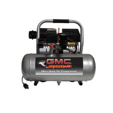 1.6 Gallon GMC Syclone 1675A Ultra Quiet and Oil-Free Air Compressor