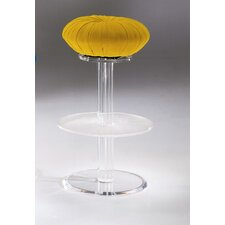Shell Bar Stool with Cushion