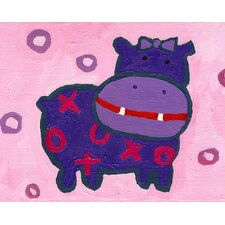 Paper Prints X & O Hippo Canvas Print