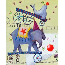 Circus Train Elephant Paper Prints