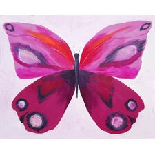 Patchwork Emperor Butterfly Giclee Canvas Print in Purple by Liz Clay