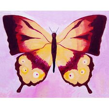 Patchwork Swallow Tail Butterfly Giclee Canvas Art