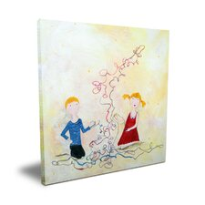 <strong>CiCi Art Factory</strong> Wit & Whimsy A long Yarn Canvas Art