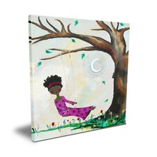 <strong>CiCi Art Factory</strong> Wit & Whimsy Silver Moon Canvas Art