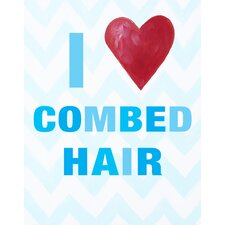 I Heart Combed Hair Paper Print