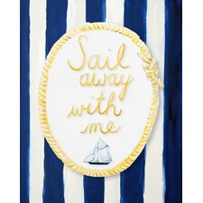 Nautical Sail Away With Me Giclée Canvas Art