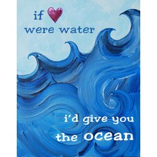 Nautical I'd Give You The Ocean Giclée Canvas Print