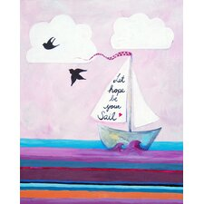Nautical Let Hope Be Your Sail Giclée Canvas Print