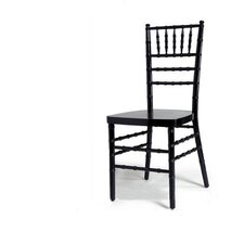 <strong>Advanced Seating</strong> Chiavari Chair in Black with Optional Cushion
