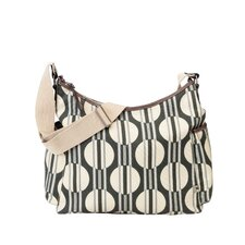 <strong>OiOi</strong> Dot and Stripe Hobo Diaper Bag