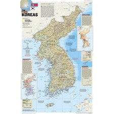 North Korea/South Korea, The Forgotten War Wall Map (Two sided)