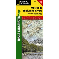 <strong>National Geographic Maps</strong> Trails Illustrated Map Merced and Tuolumne Rivers / Stanislaus National Forest
