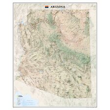 <strong>National Geographic Maps</strong> Arizona State Wall Map