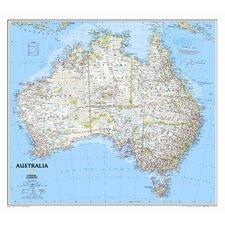 Australia Classic Wall Map