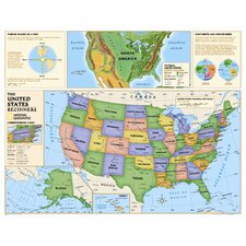 <strong>National Geographic Maps</strong> Kids Beginners USA Wall Map (Grades K-3)