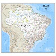 Brazil Classic Wall Map