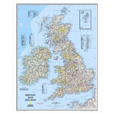 <strong>National Geographic Maps</strong> Britain and Ireland Wall Map