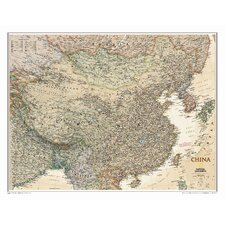 China Executive Wall Map