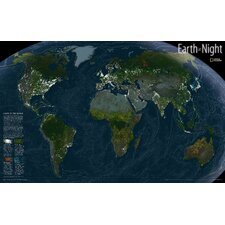 <strong>National Geographic Maps</strong> Earth at Night Map