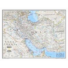 Iran Classic Wall Map