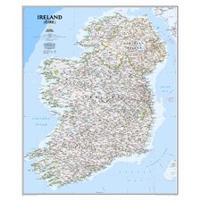 <strong>National Geographic Maps</strong> Ireland Classic Wall Map