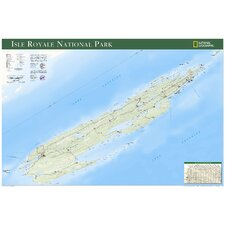 Isle Royale National Park Wall Map