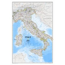 Italy Classic Wall Map