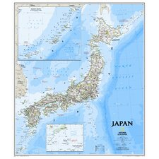 Japan Classic Wall Map