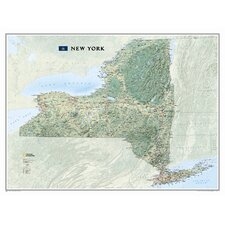 New York State Wall Map