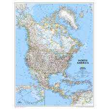 North America Classic Wall Map