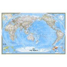 World Classic Pacific Centered Wall Map