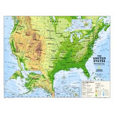 Kids Physical USA Wall Map (Graded 4-12)