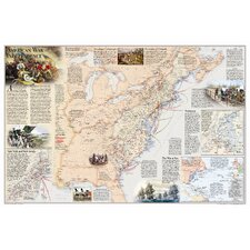 Battles of the Revolutionary War & War of 1812 Wall Map (Two Sided)