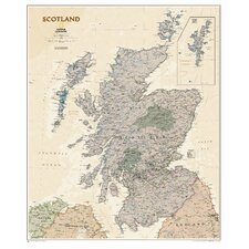 Scotland Executive Wall Map