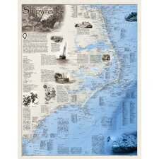 Shipwrecks of the Outer Banks Wall Map