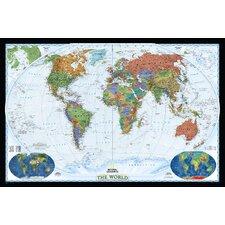 <strong>National Geographic Maps</strong> World Decorator Wall Map