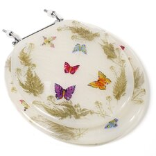 Butterfly Acrylic Round Toilet Seat