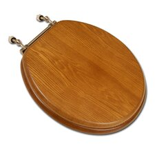 <strong>Comfort Seats</strong> Decorative Front Wood Round Toilet Seat