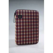 Plaid Laptop Sleeve in Red / Blue