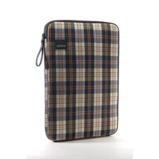 Plaid Laptop Sleeve in Navy / Beige