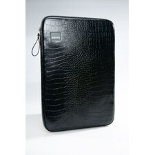 Black Croc Laptop Sleeve