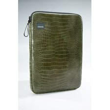 Green Croc Laptop Sleeve