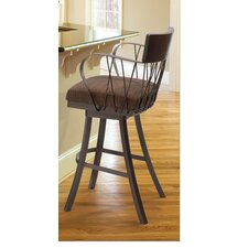 "Bambusa II 30"" Bar Stool with Cushion"