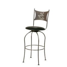Café Swivel Bar Stool with Cushion
