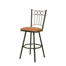 Charles I Swivel Bar Stool with Cushion