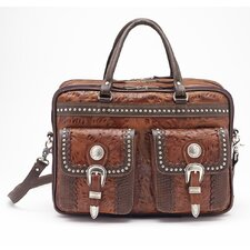 Cattle Drive Remove Leather Briefcase