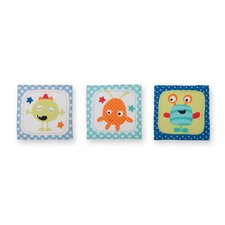 3 Piece Monster Babies Hanging Art Set