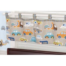 Gridlock Tab Top Tailored Curtain Valance
