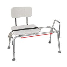 Snap N Save Sliding Transfer Bench with Replaceable Cut Out Seat
