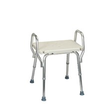 Shower Chair with Backless Molded Seat and Arms